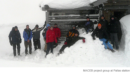 MACEB project group at Pallas station